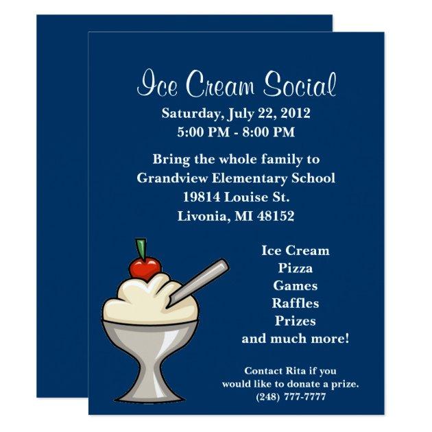 Ice Cream Social Invitations & Announcements | Zazzle