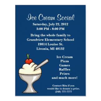 Ice Cream Social Flyer Card