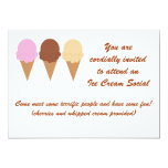 "Ice Cream Social Invitation 5"" X 7"" Invitation Card"