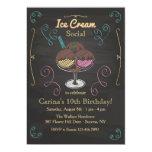 """Ice Cream Social Invitation 5"""" X 7"""" Invitation Card"""