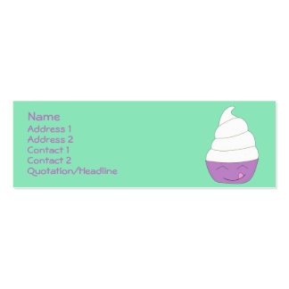 Ice Cream Social profile card Double-Sided Mini Business Cards (Pack Of 20)