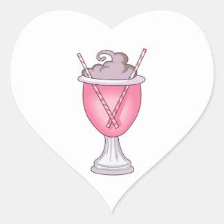 ICE CREAM SODA HEART STICKER