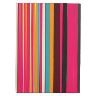 Ice Cream & Sprinkles Striped Pattern Cover For iPad Air