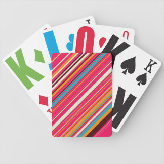Ice Cream & Sprinkles Striped Playing Cards