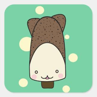 ice cream square sticker