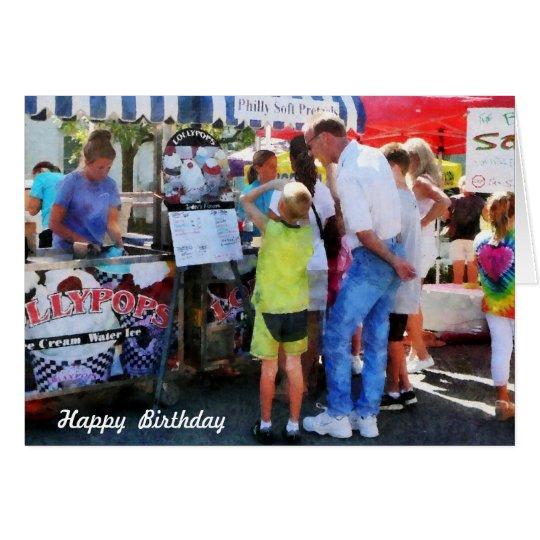 Ice Cream Stand - Birthday Card