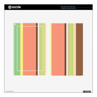 Ice Cream Stripes Device Skin Skin For Kindle Fire