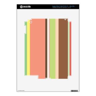 Ice Cream Stripes Zazzle Skin iPad 3 Skin