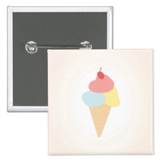Ice Cream Summer Party Badge Button