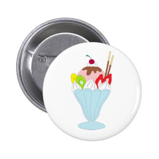 Ice Cream Sundae Pinback Buttons