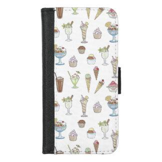 Ice Cream Sundae Collage iPhone 8/7 Wallet Case