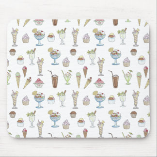 Ice Cream Sundae Collage Mouse Pad
