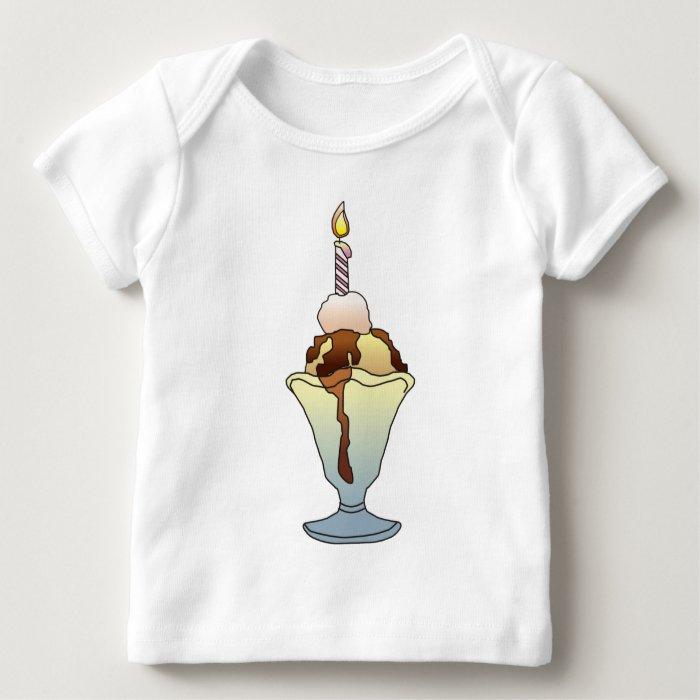 ICE CREAM SUNDAE GIRL by SHARON SHARPE Baby T-Shirt