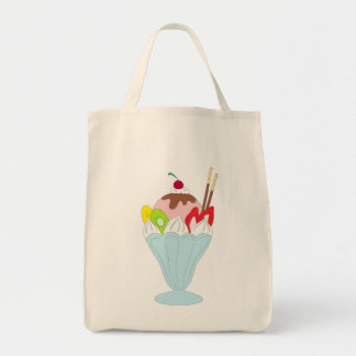Ice Cream Sundae Grocery Tote Bag
