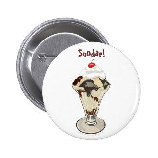 Ice Cream Sundae Hot Fudge Buttons