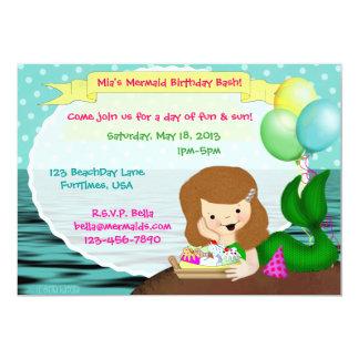 Ice Cream Sundae Mermaid Invite