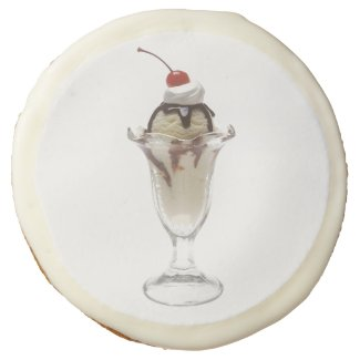 Ice Cream Sundae Sugar Cookie