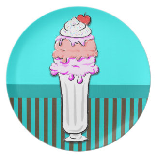 Ice Cream Sundae - Sugar Rush Dinner Plate