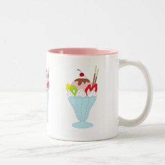 Ice Cream Sundae Two-Tone Coffee Mug