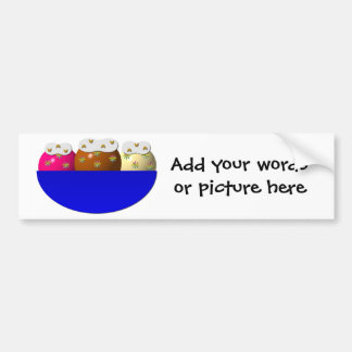 Ice cream sundae w/ whipped cream, nuts, sprinkles bumper stickers