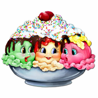 """Ice cream sundae """"what's the latest SCOOP?"""" Statuette"""