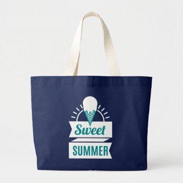 Beach Themed Ice Cream. Sweet Summer. Large Tote Bag