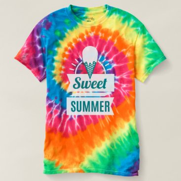 Beach Themed Ice Cream. Sweet Summer. T-shirt