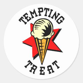 Ice Cream Tempting Treat Classic Round Sticker