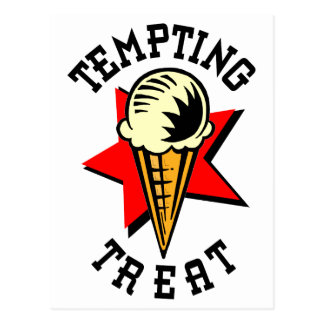 Ice Cream Tempting Treat Postcard