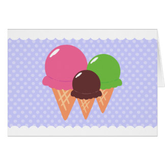 Ice Cream Thank You Cards Note Card