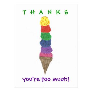 Ice cream thank-you postcards