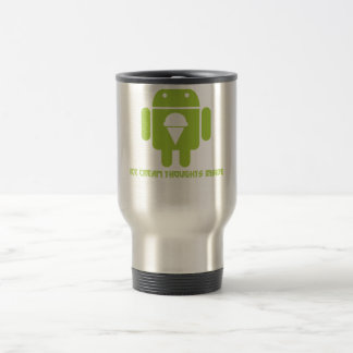 Ice Cream Thoughts Inside (Android Bug Droid) Travel Mug