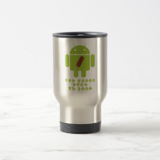 Ice Cream Time Is Here (Bug Droid Android) Travel Mug