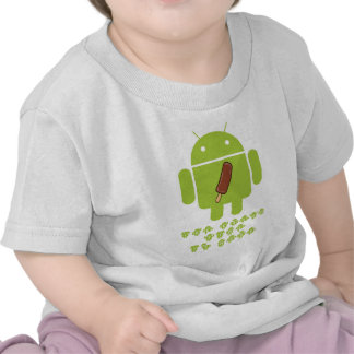 Ice Cream Time Is Here (Bug Droid Android) Tees