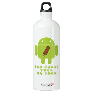 Ice Cream Time Is Here (Bug Droid Android) Water Bottle