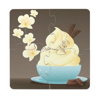 Ice Cream Treat Puzzle Coaster