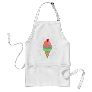 Ice Cream Treats Adult Apron