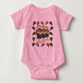 Ice Cream Treats Baby Bodysuit