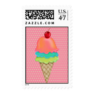 Ice Cream Treats Postage Stamps