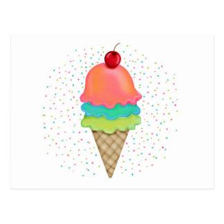 Ice Cream Treats Postcard