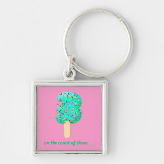 Ice cream Treats with Sprinkles! Number 3 keyring