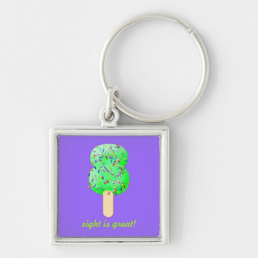 Ice cream Treats with Sprinkles! Number 8 keyring Key Chains