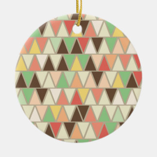 Ice Cream Triangle Pattern Ornaments