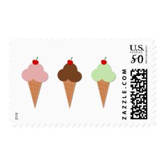Ice Cream Trio Postage