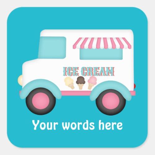 Ice Cream Truck add words sticker