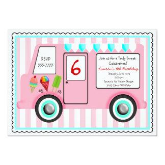 Ice Cream Truck Birthday Invitation
