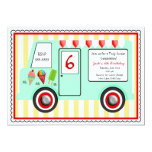 "Ice Cream Truck Birthday Invitation 5"" X 7"" Invitation Card"