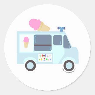 Ice Cream Truck Classic Round Sticker
