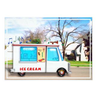 Ice Cream Truck in the Street Card