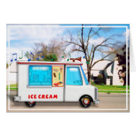 Ice Cream Truck in the Street Greeting Card